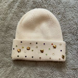 Betsey Johnson beaded toque